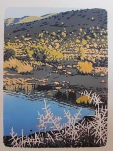 Yellow bush reflexion